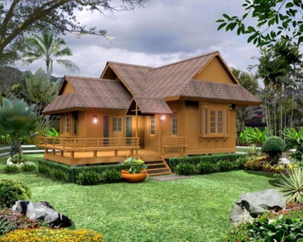 Kumpulan Gambar Rumah Kayu Sederhana Simple Dan Minimalis