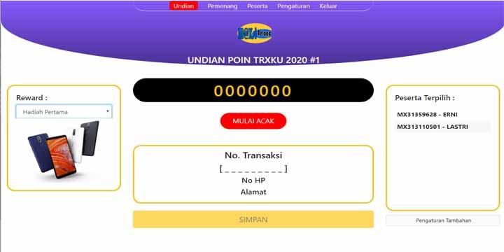 Aplikasi Undian Online Kocok Nomor Arisan Lotre
