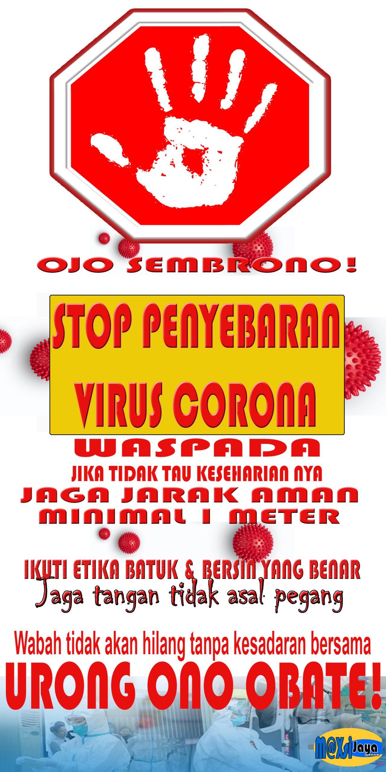 banner waspada virus corona