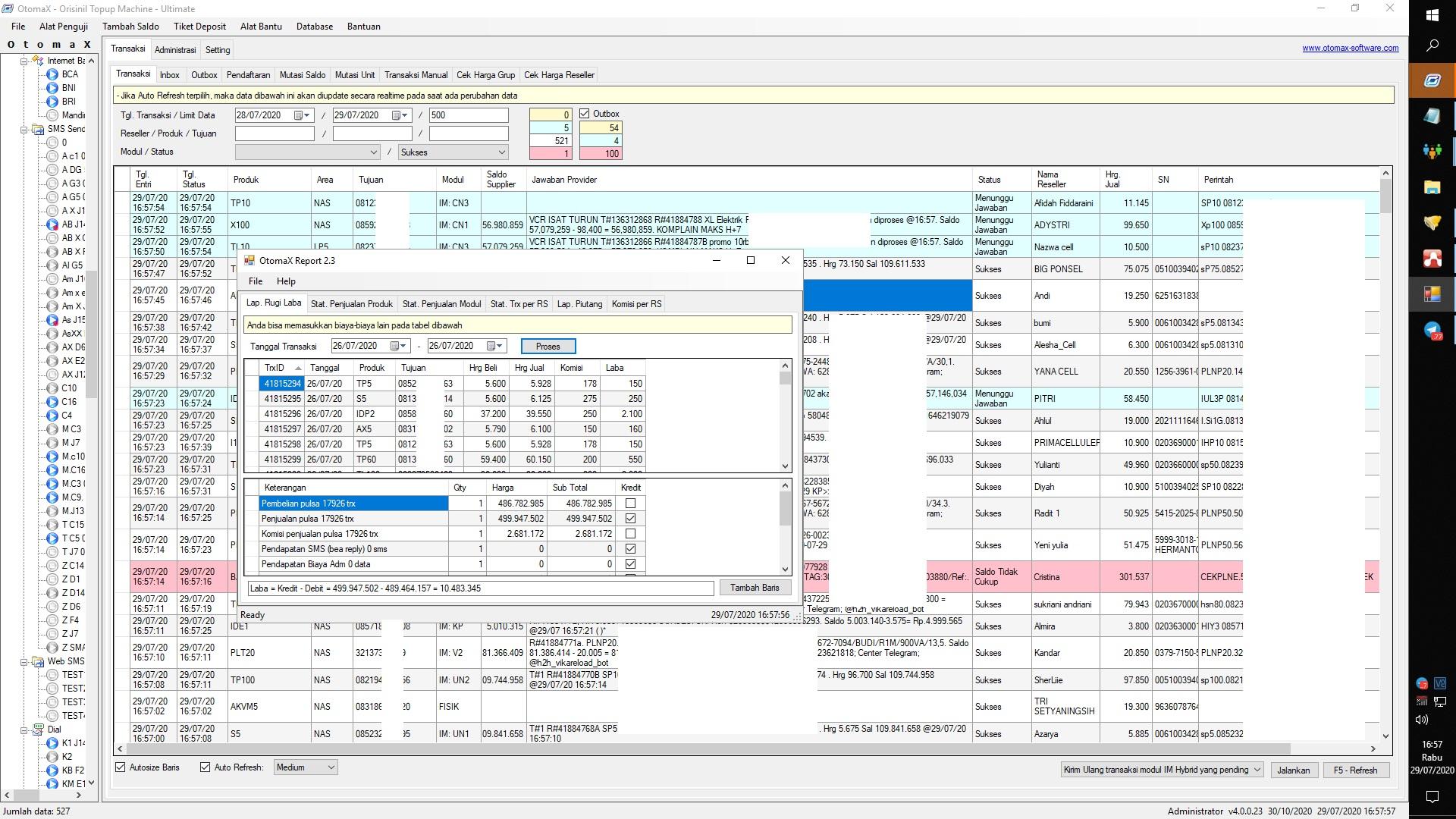Jual OtomaX Resmi Software Server Pulsa Terbaik