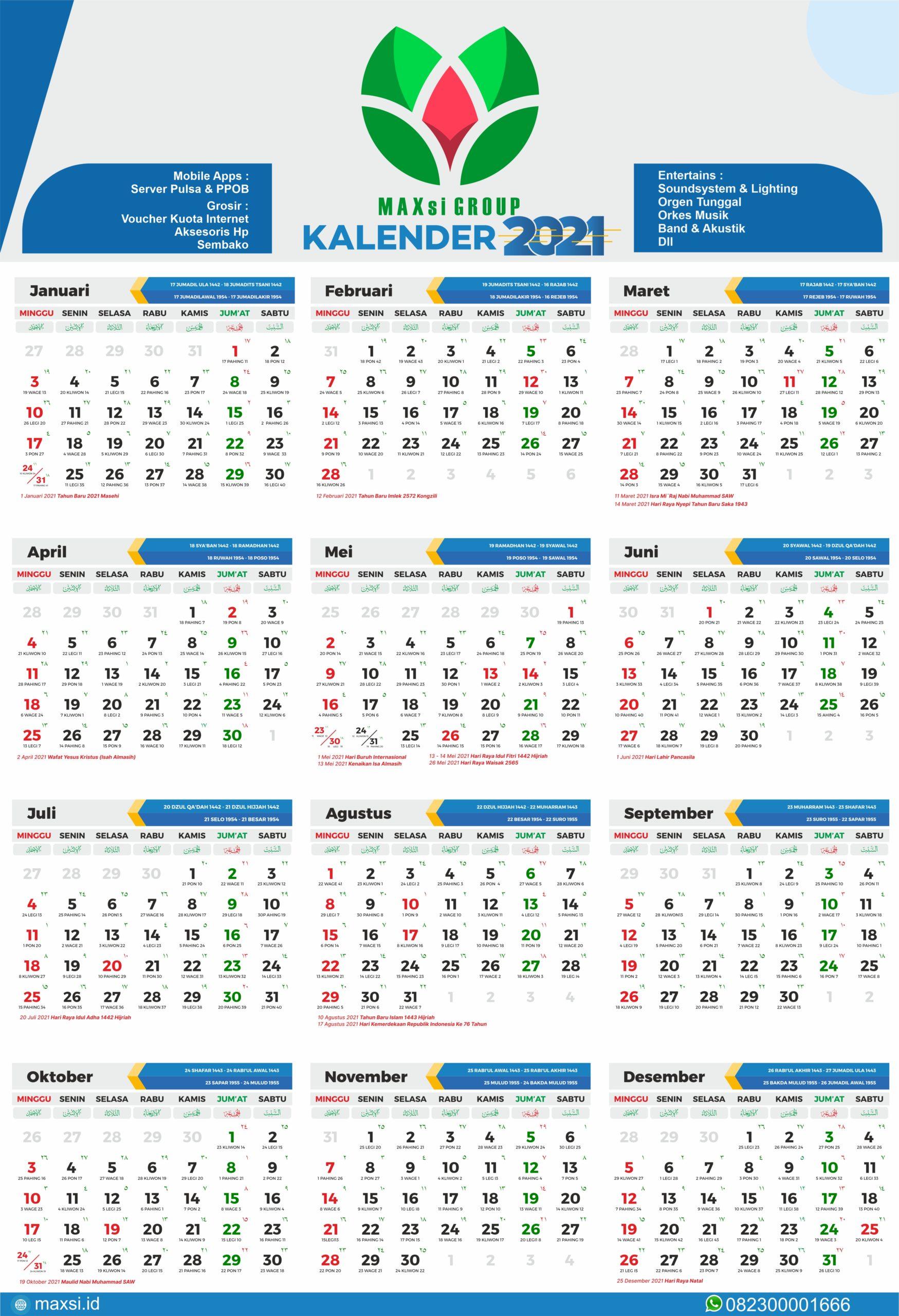 Kalender 2021 Gratis Download Png - 2021 Calendar Pdf Word ...